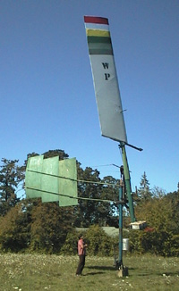 Well-mounted windpump